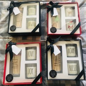 Rae Dunn Christmas Candles & Match Set!!